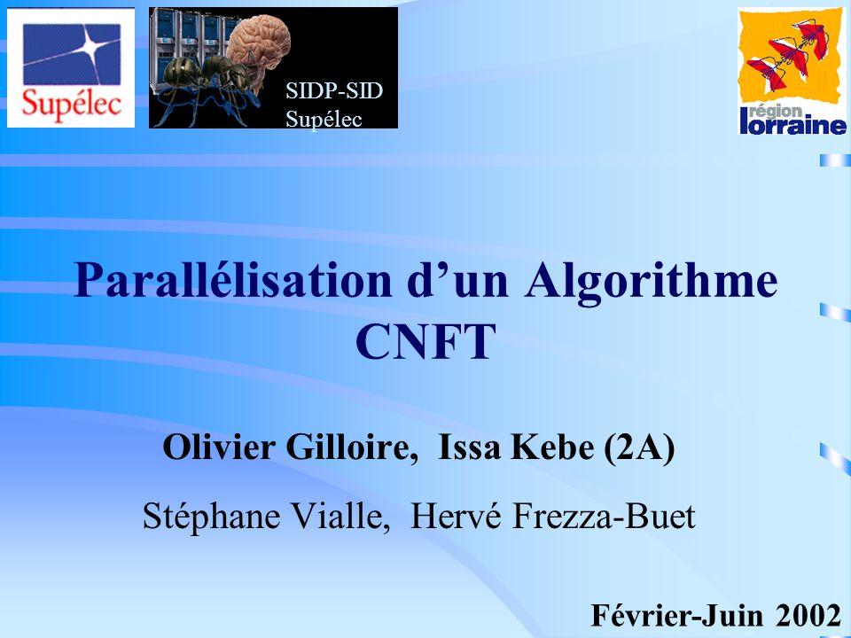 Parallélisation d'un Algorithme CNFT