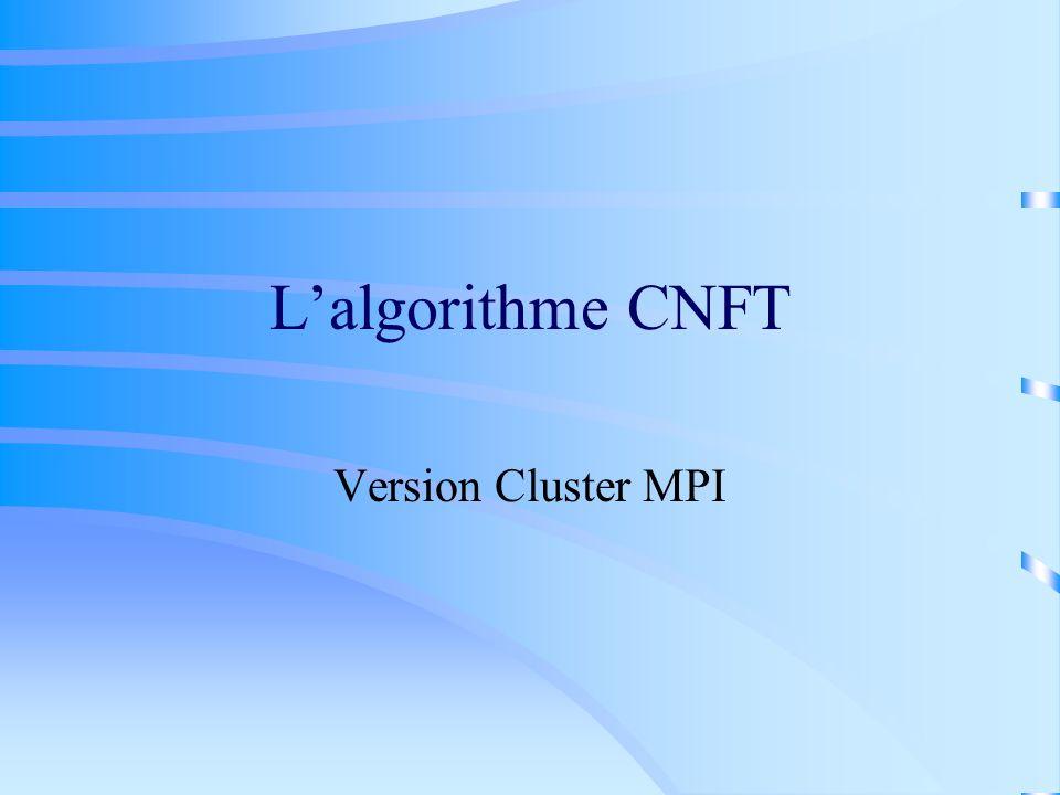 L'algorithme CNFT Version Cluster MPI