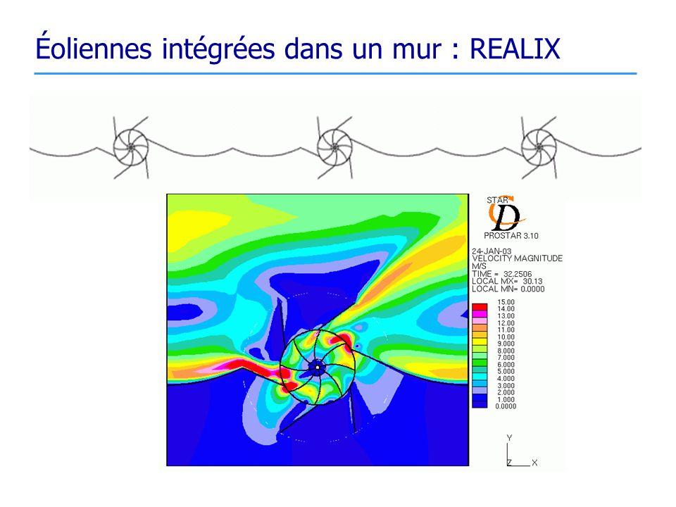 Éoliennes intégrées dans un mur : REALIX