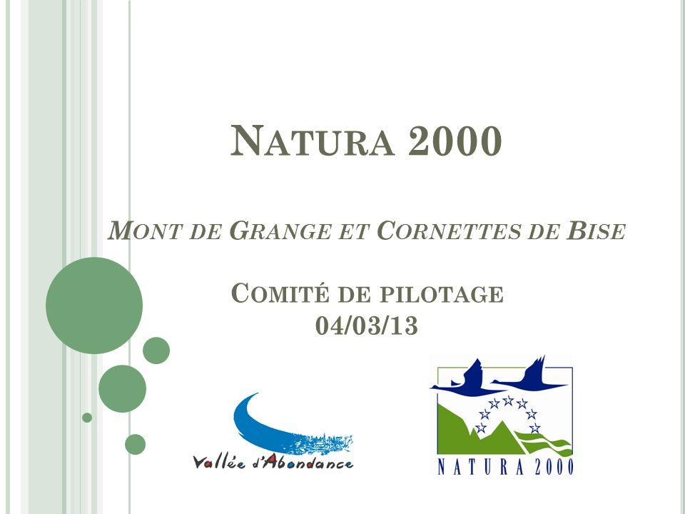 Natura 2000 Mont de Grange et Cornettes de Bise Comité de pilotage 04/03/13