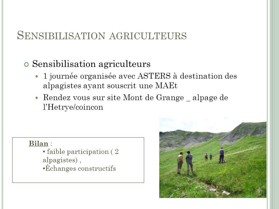 Sensibilisation agriculteurs