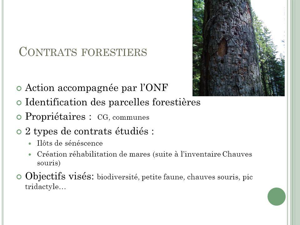 Contrats forestiers Action accompagnée par l'ONF