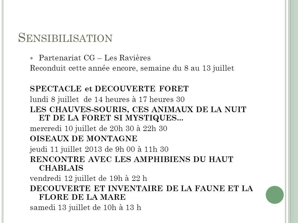 Sensibilisation Partenariat CG – Les Ravières