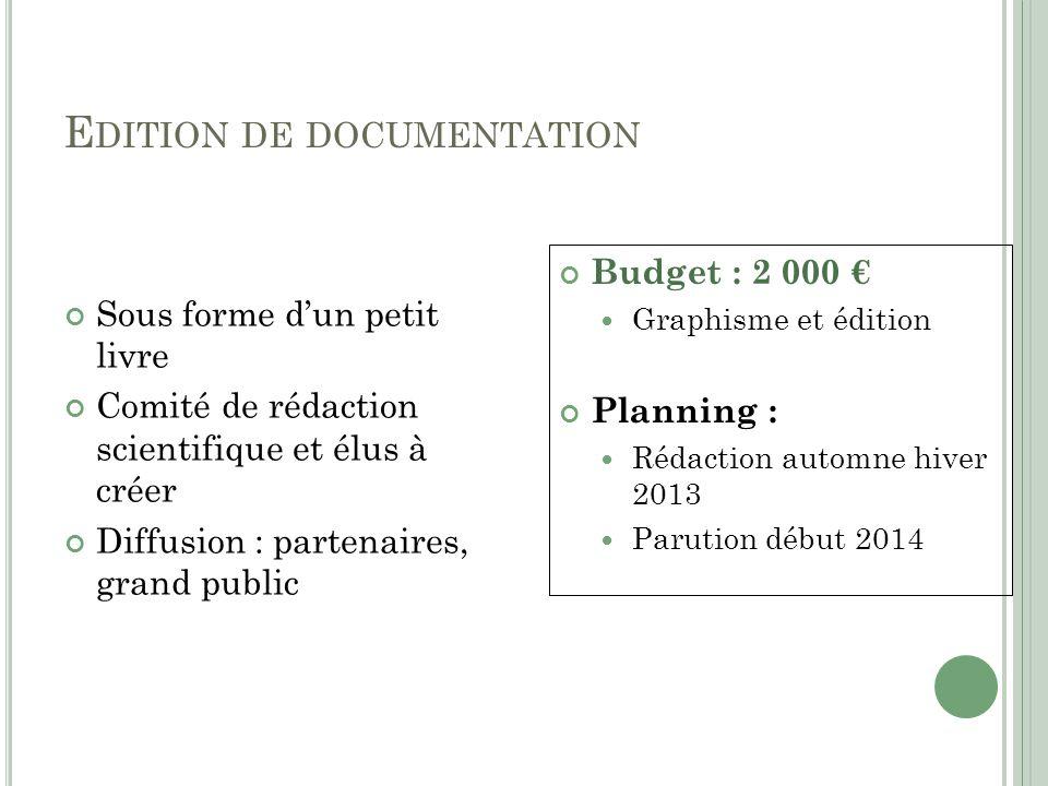 Edition de documentation