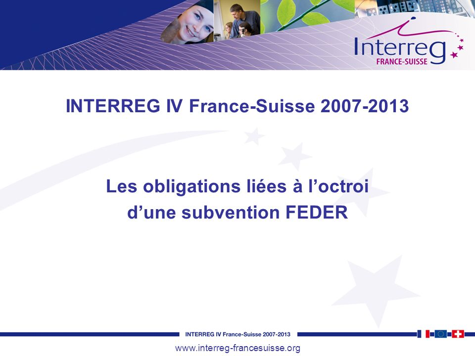 INTERREG IV France-Suisse 2007-2013