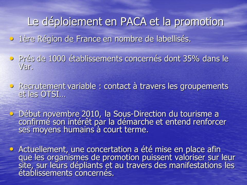 Le déploiement en PACA et la promotion