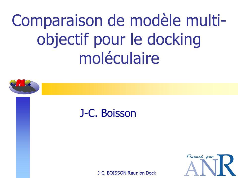 Comparaison de modèle multi-objectif pour le docking moléculaire