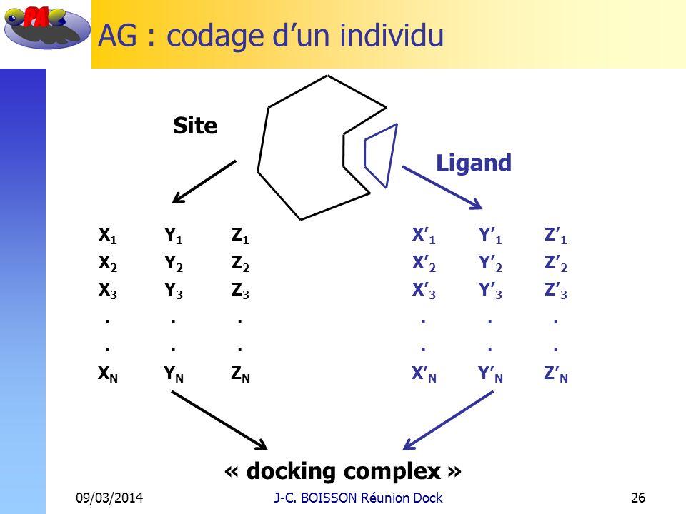 AG : codage d'un individu