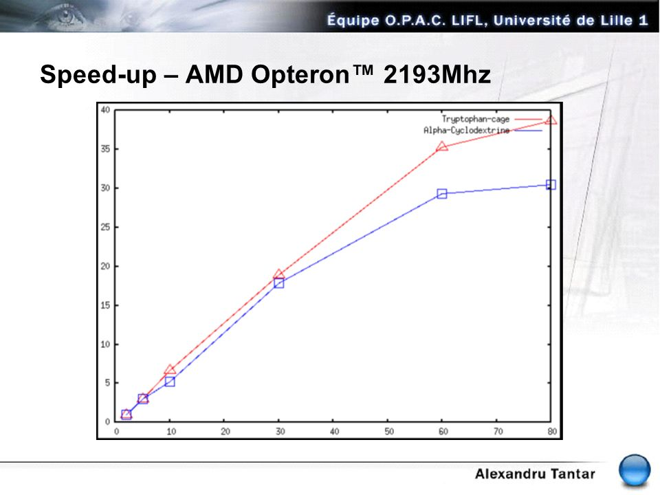 Speed-up – AMD Opteron™ 2193Mhz