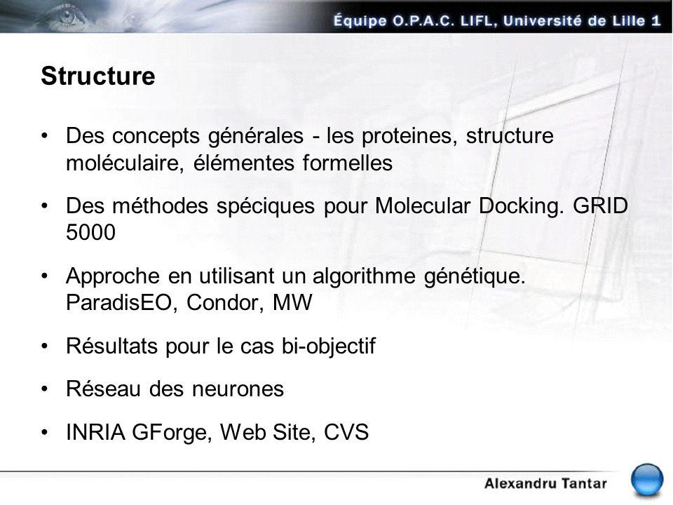 Structure Des concepts générales - les proteines, structure moléculaire, élémentes formelles.
