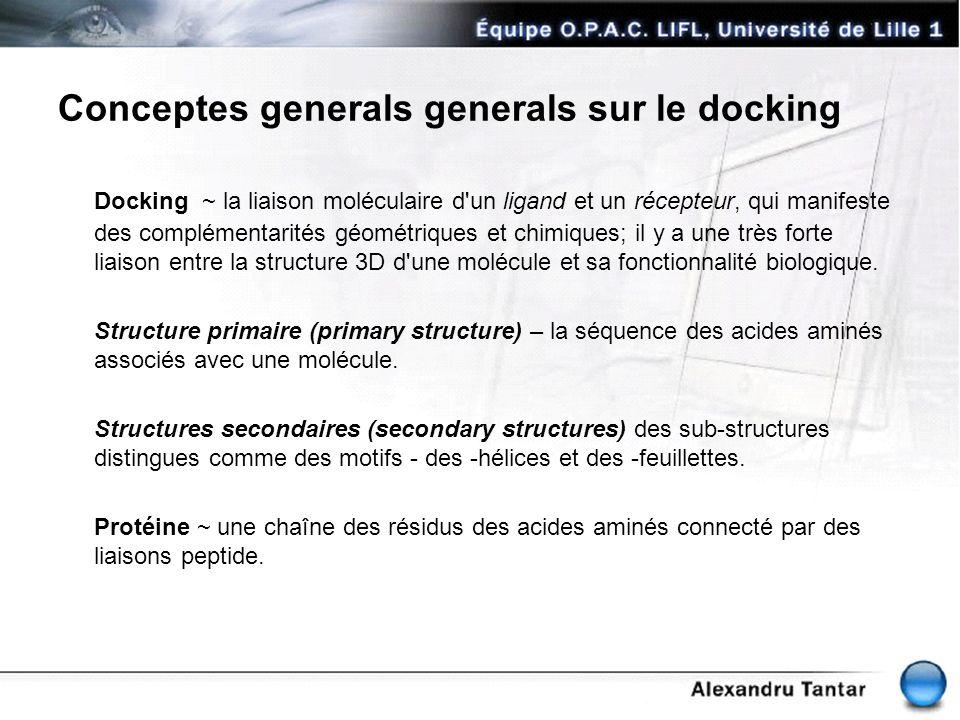 Conceptes generals generals sur le docking