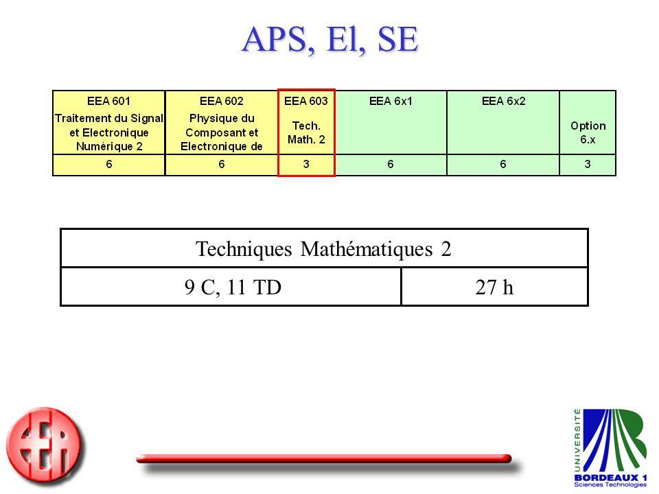 Techniques Mathématiques 2