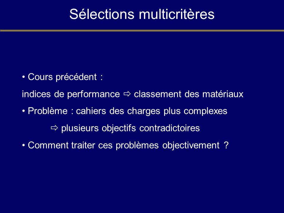 Sélections multicritères