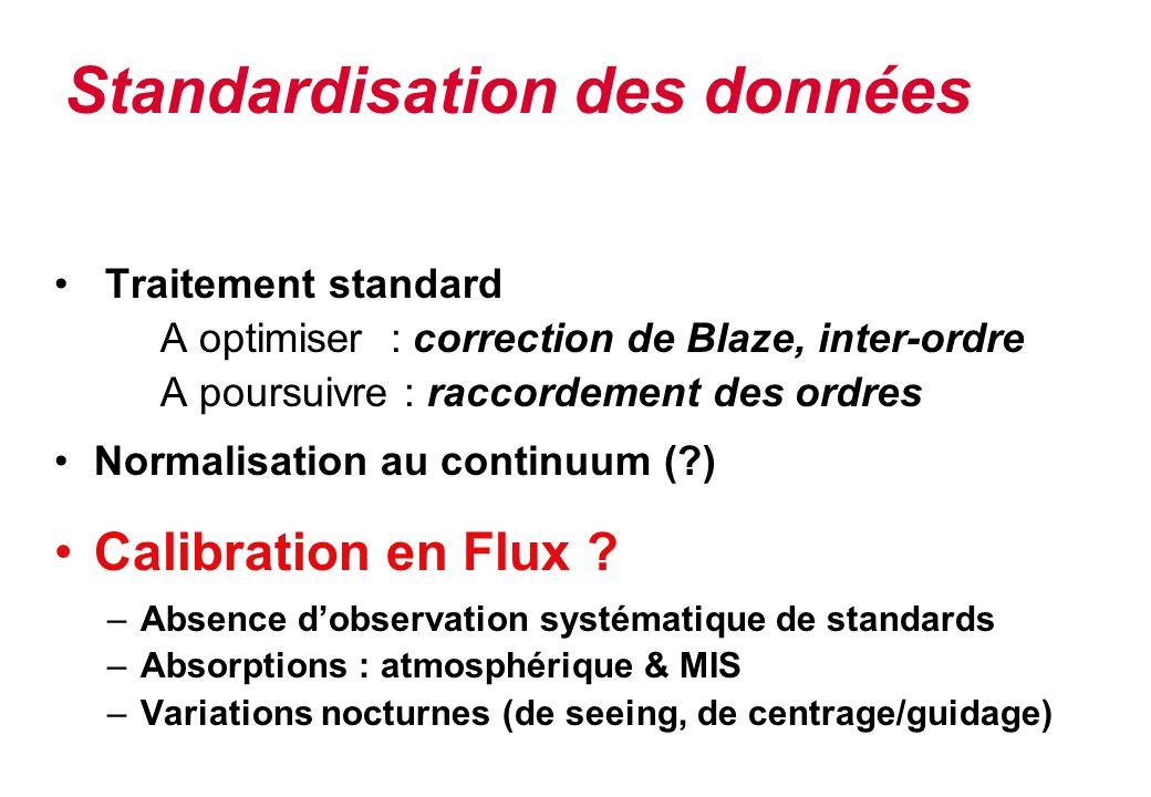 Standardisation des données