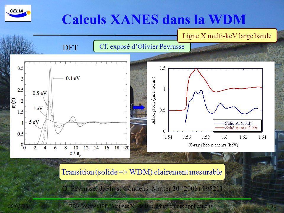 Calculs XANES dans la WDM