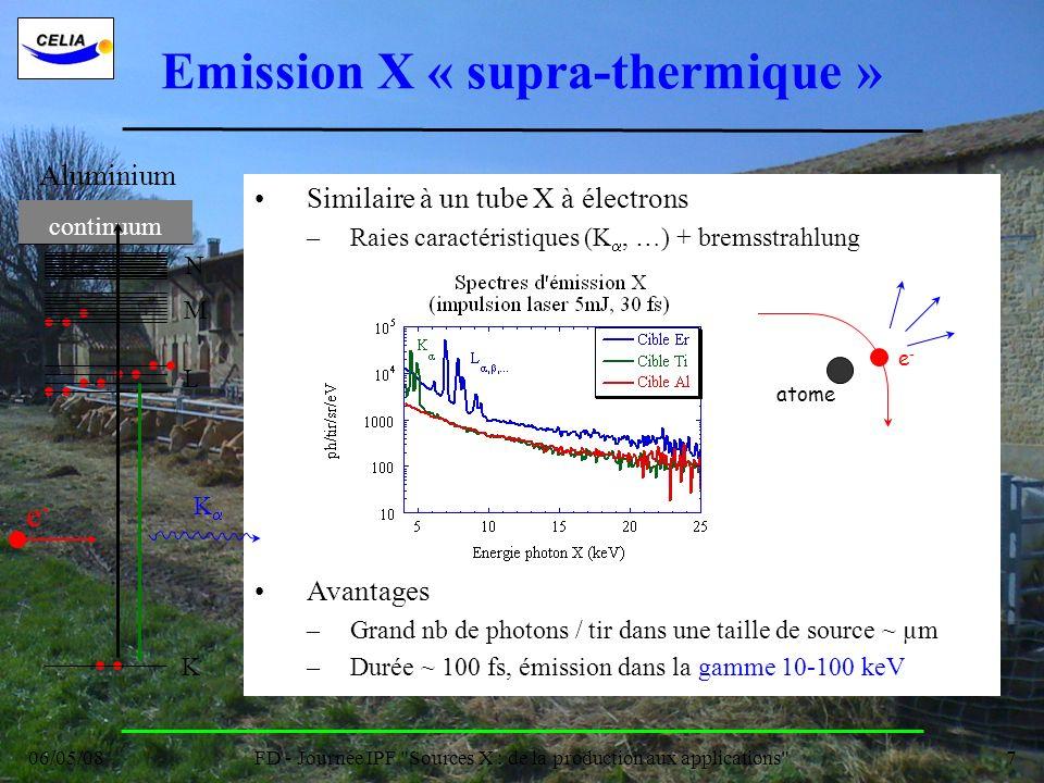 Emission X « supra-thermique »