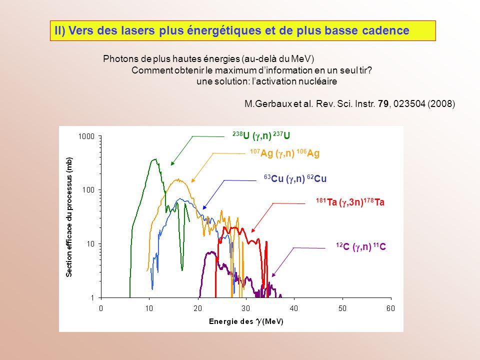 II) Vers des lasers plus énergétiques et de plus basse cadence