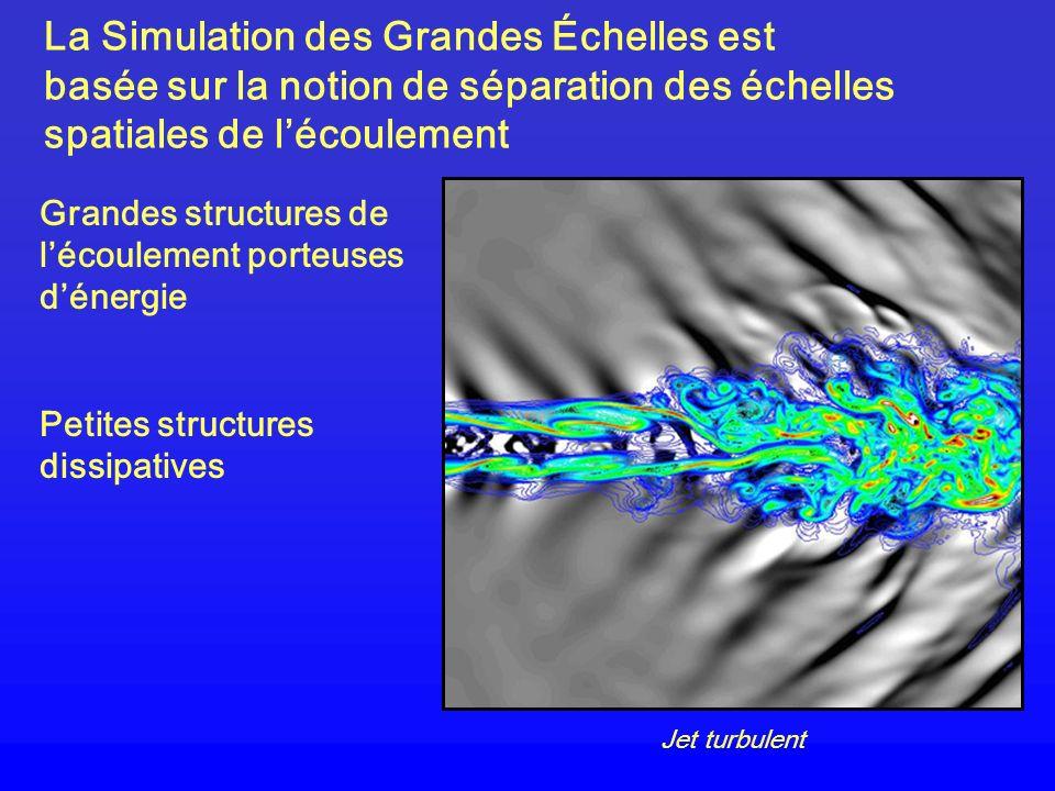 La Simulation des Grandes Échelles est basée sur la notion de séparation des échelles spatiales de l'écoulement