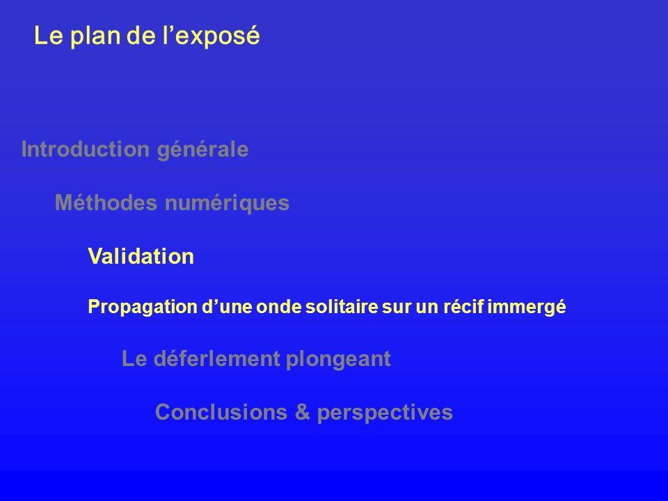 Le plan de l'exposé Introduction générale Méthodes numériques
