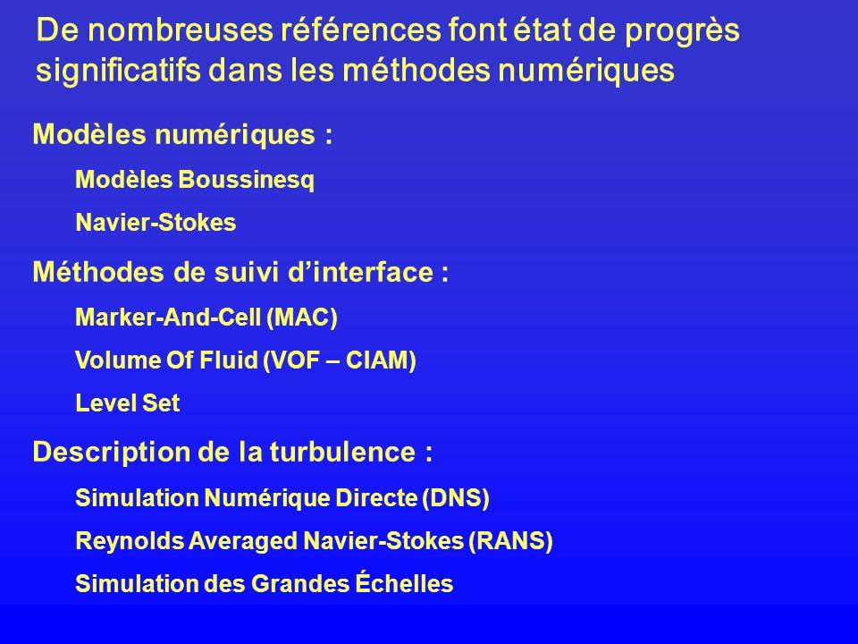 De nombreuses références font état de progrès significatifs dans les méthodes numériques