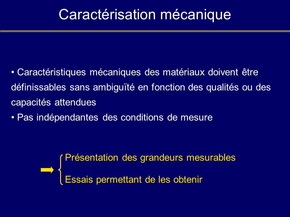 Caractérisation mécanique