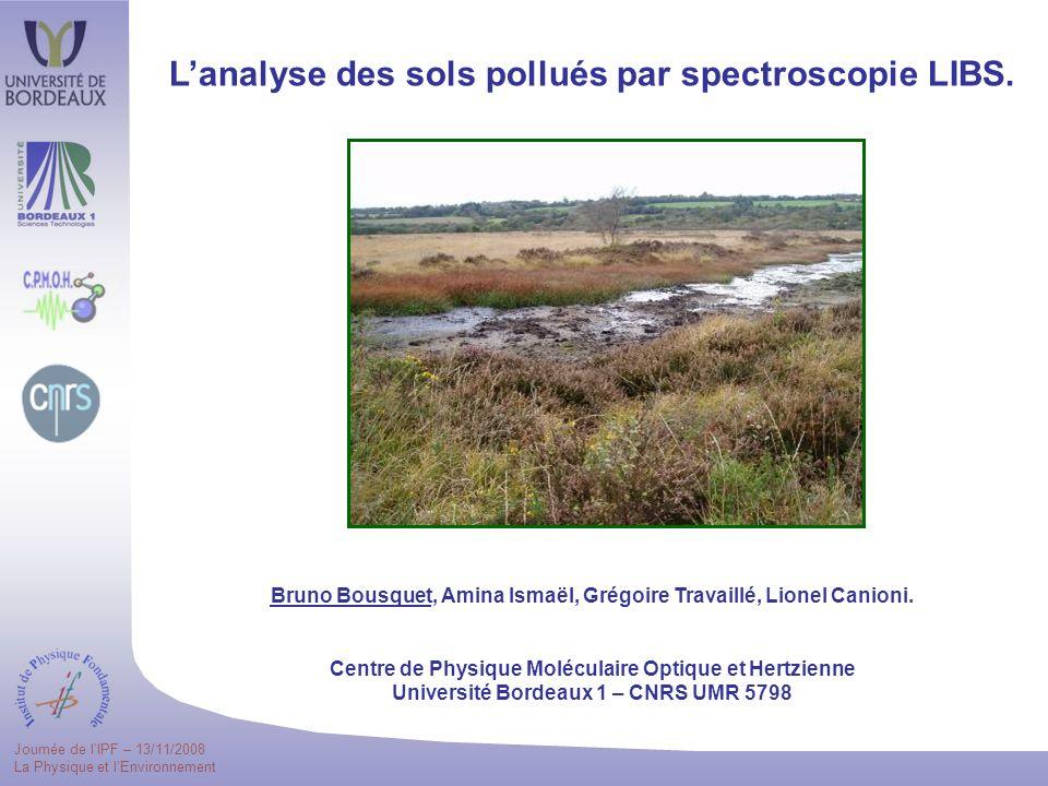 L'analyse des sols pollués par spectroscopie LIBS.