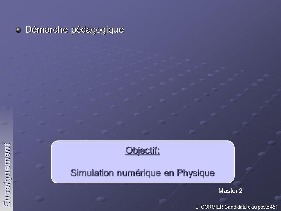 Simulation numérique en Physique