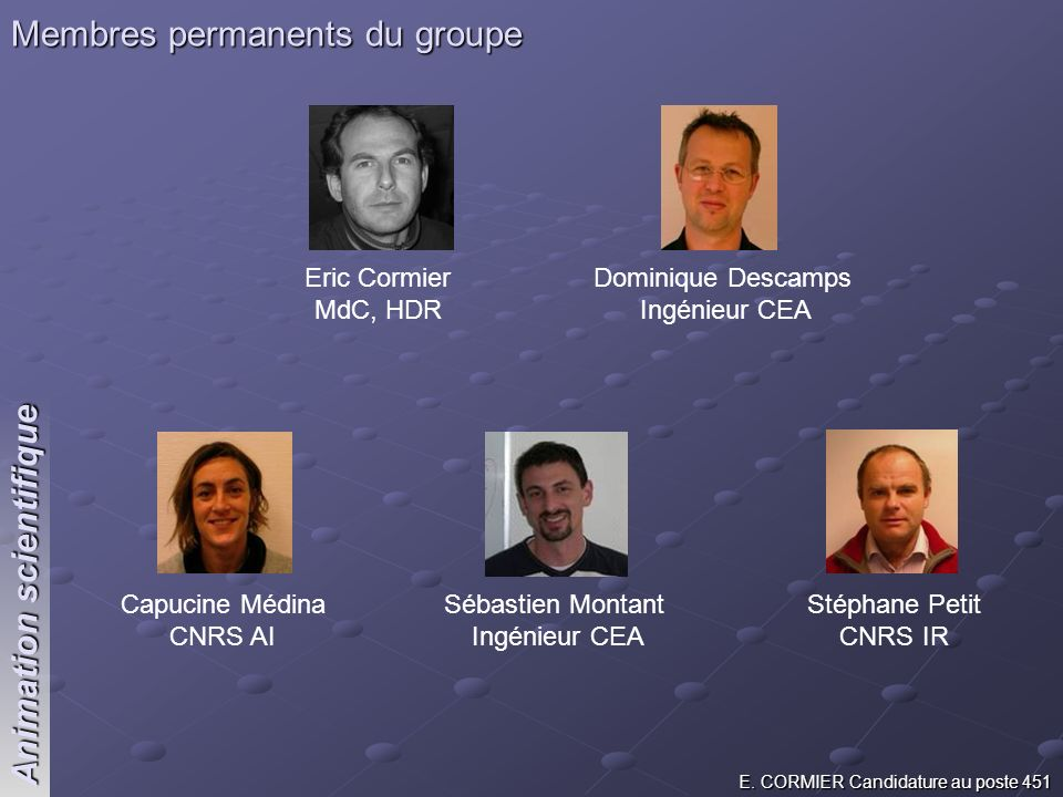 Membres permanents du groupe