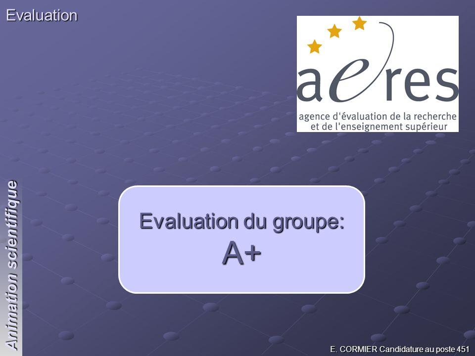 Evaluation du groupe: A+
