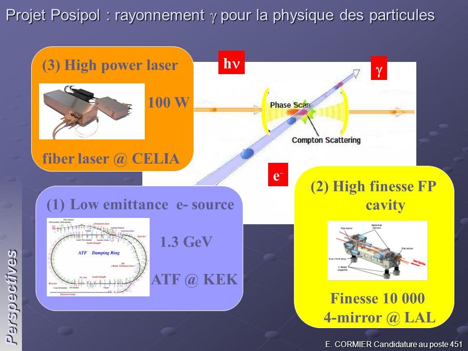 Projet Posipol : rayonnement g pour la physique des particules