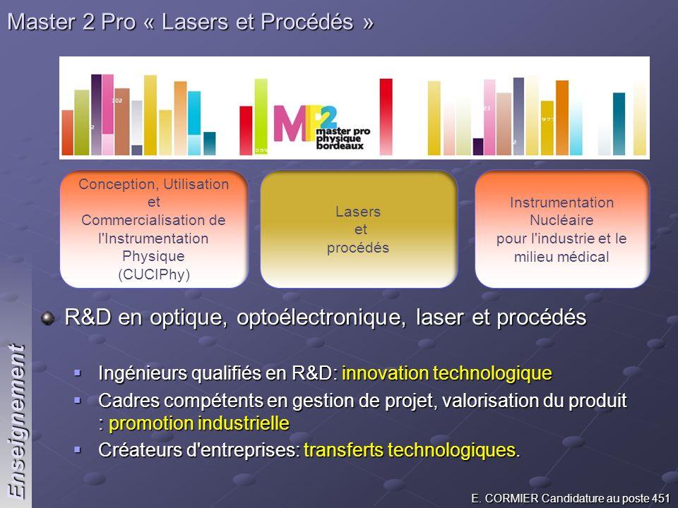 Master 2 Pro « Lasers et Procédés »