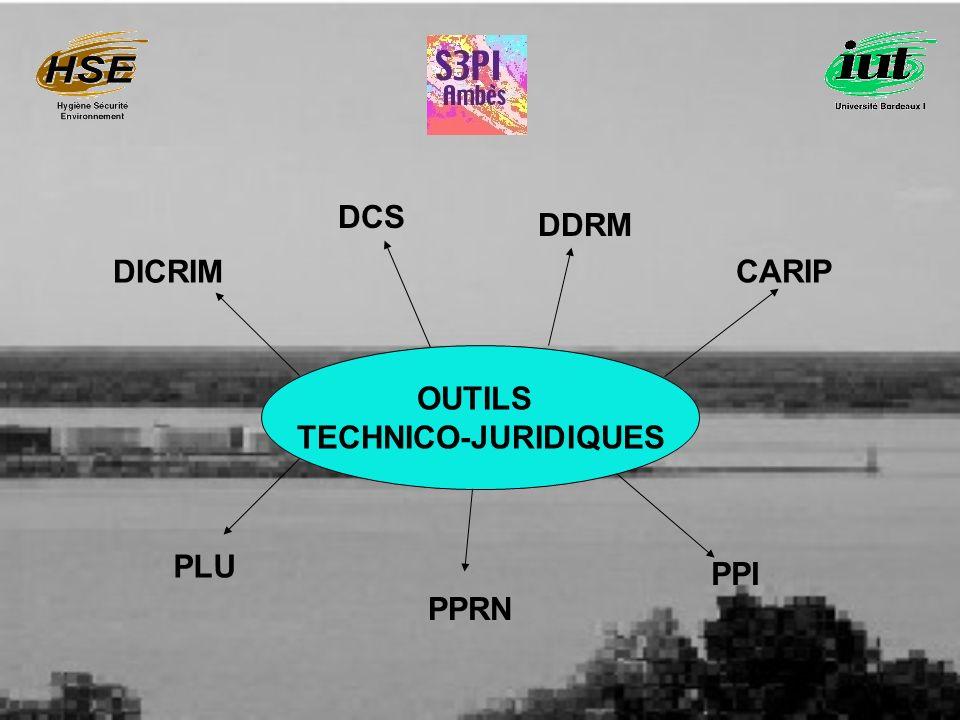 DCS DDRM DICRIM CARIP OUTILS TECHNICO-JURIDIQUES PLU PPI PPRN