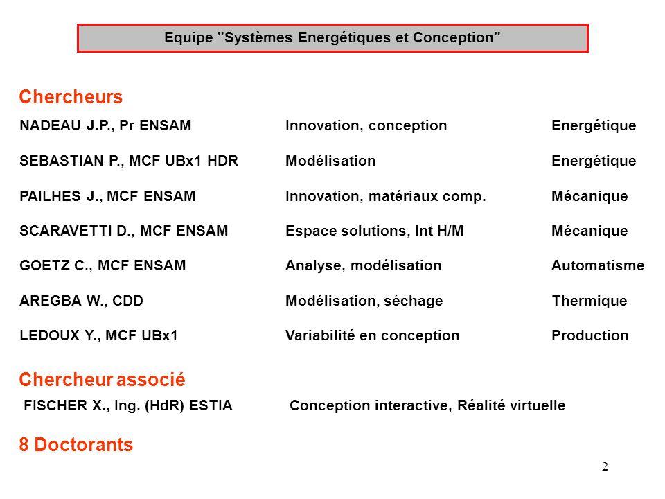 Equipe Systèmes Energétiques et Conception