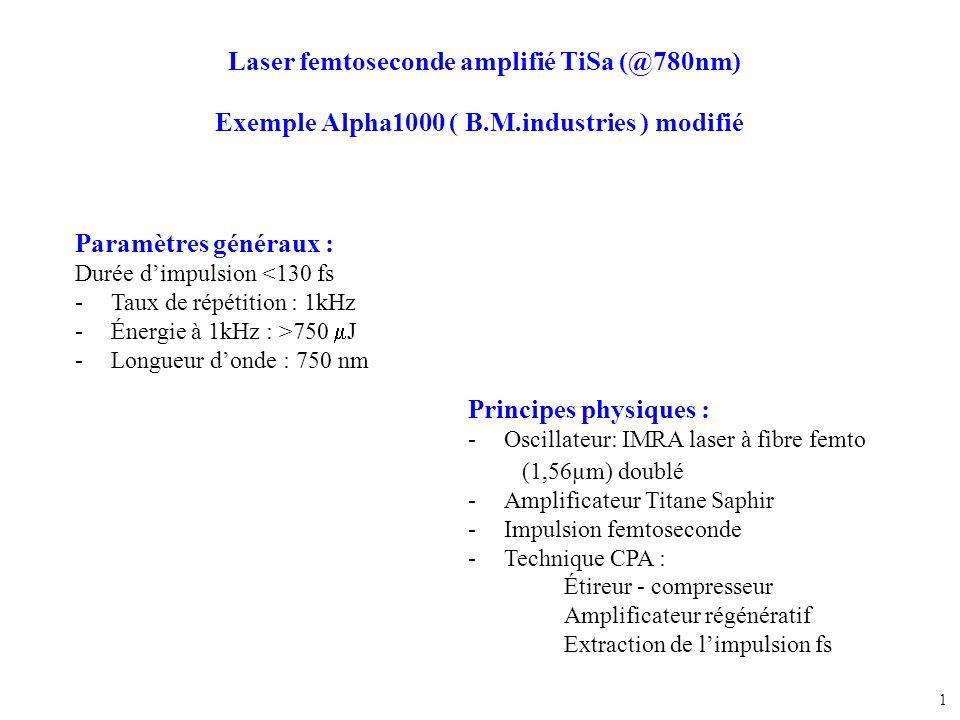 Laser femtoseconde amplifié TiSa (@780nm)