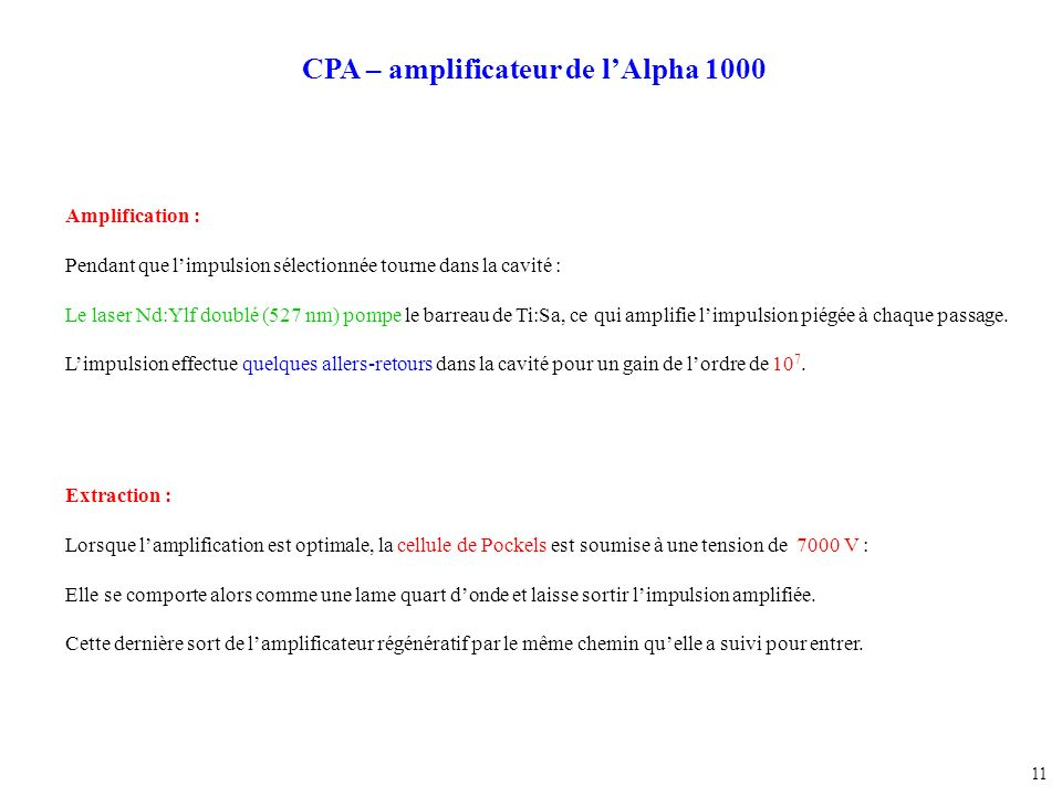 CPA – amplificateur de l'Alpha 1000