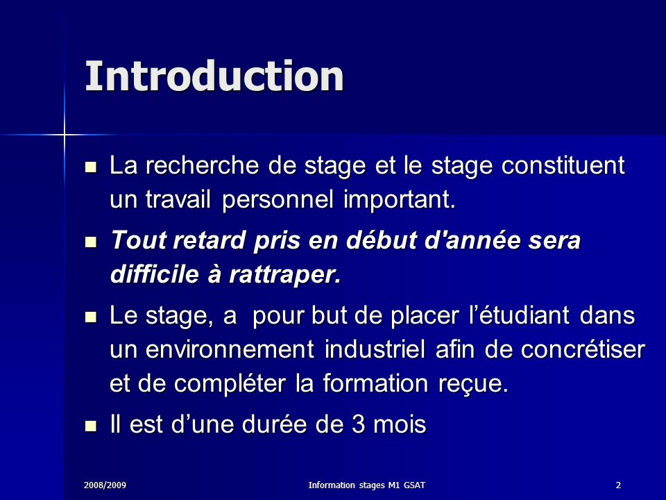 Information stages M1 GSAT