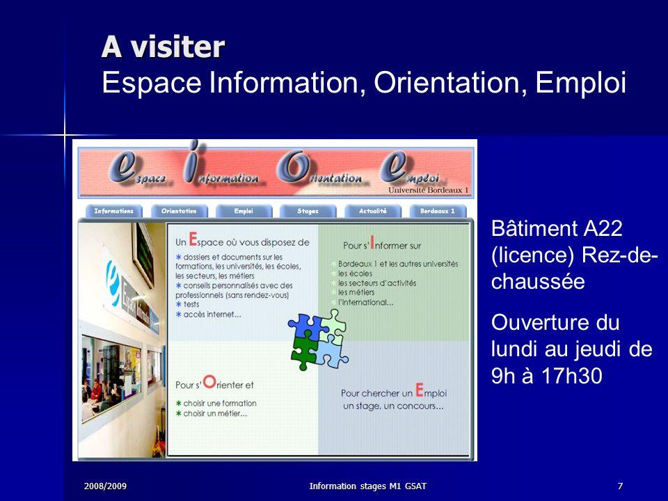 A visiter Espace Information, Orientation, Emploi
