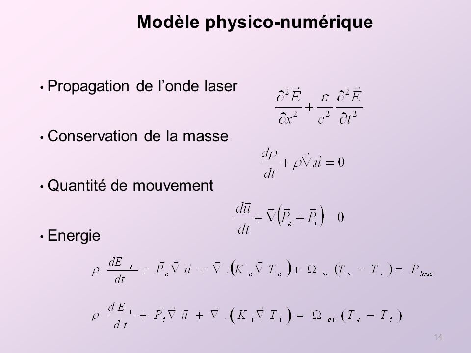Modèle physico-numérique