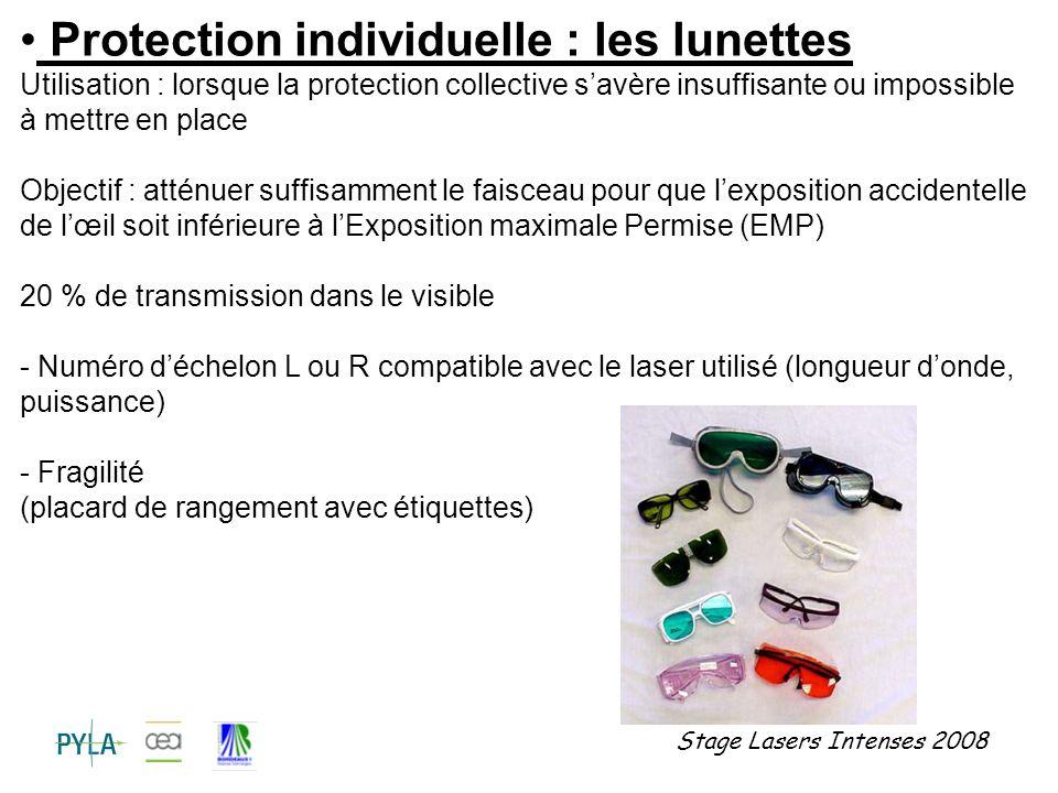 Protection individuelle : les lunettes