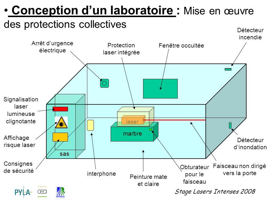 Conception d'un laboratoire : Mise en œuvre des protections collectives