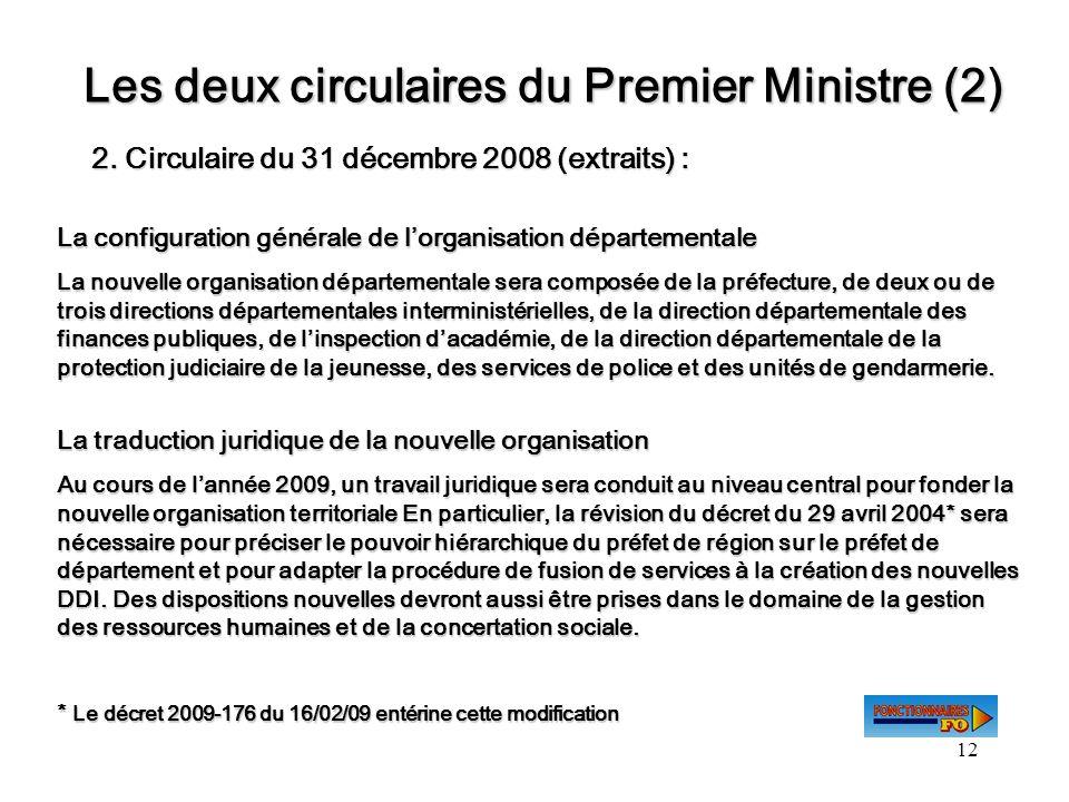 Les deux circulaires du Premier Ministre (2)