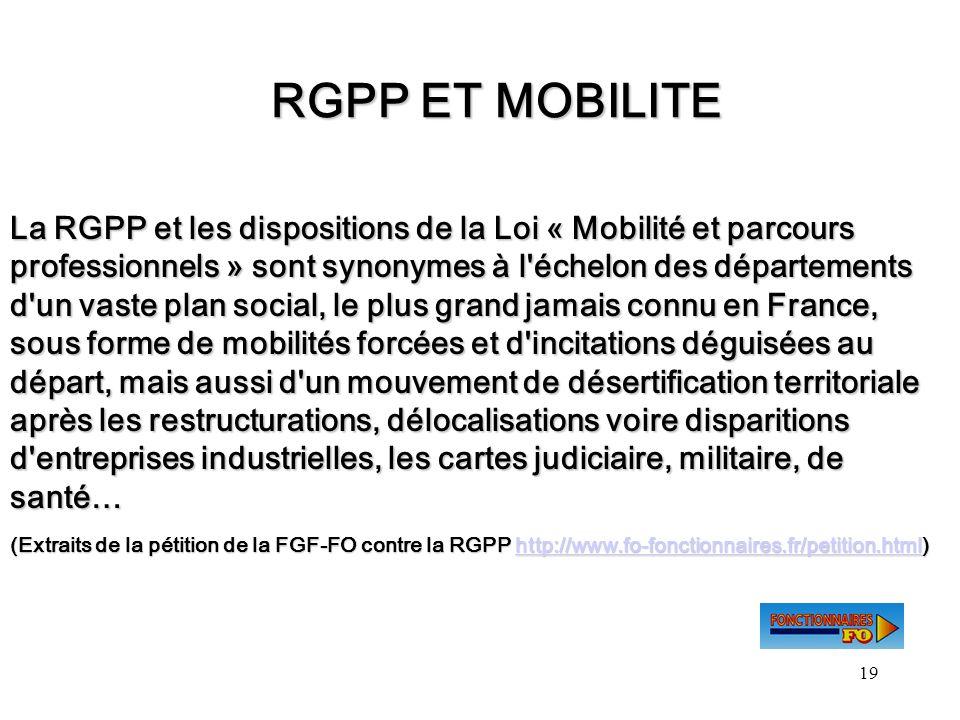 RGPP ET MOBILITE