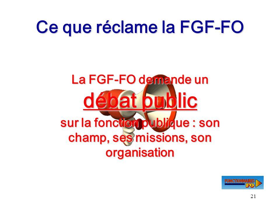 Ce que réclame la FGF-FO