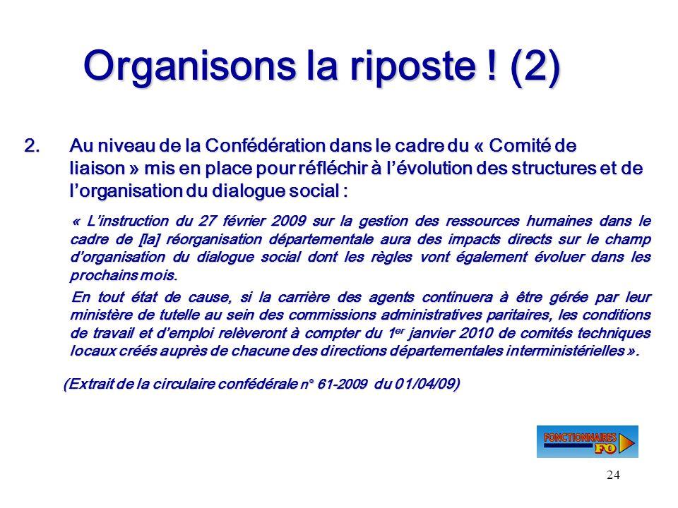 Organisons la riposte ! (2)