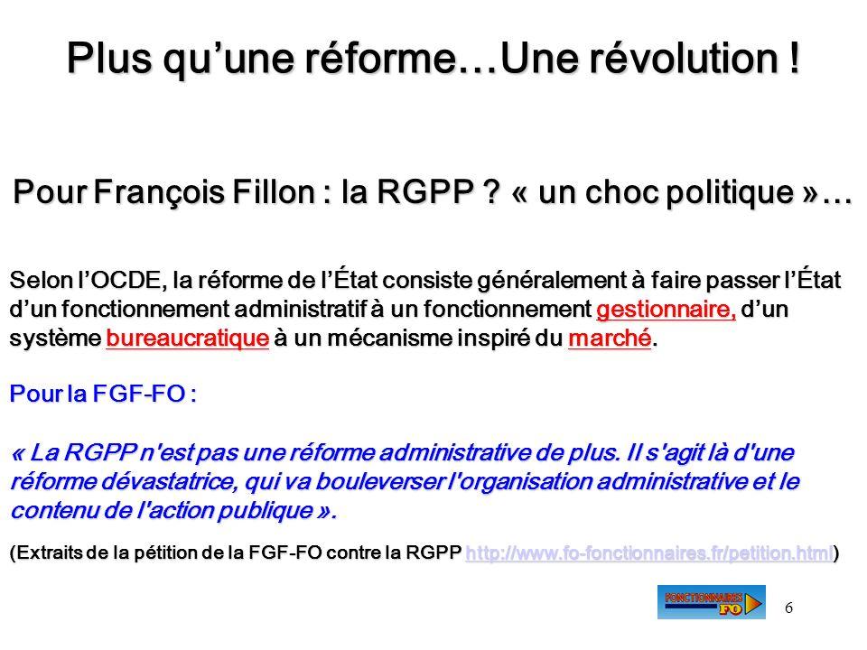 Plus qu'une réforme…Une révolution !