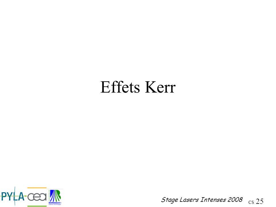 Effets Kerr