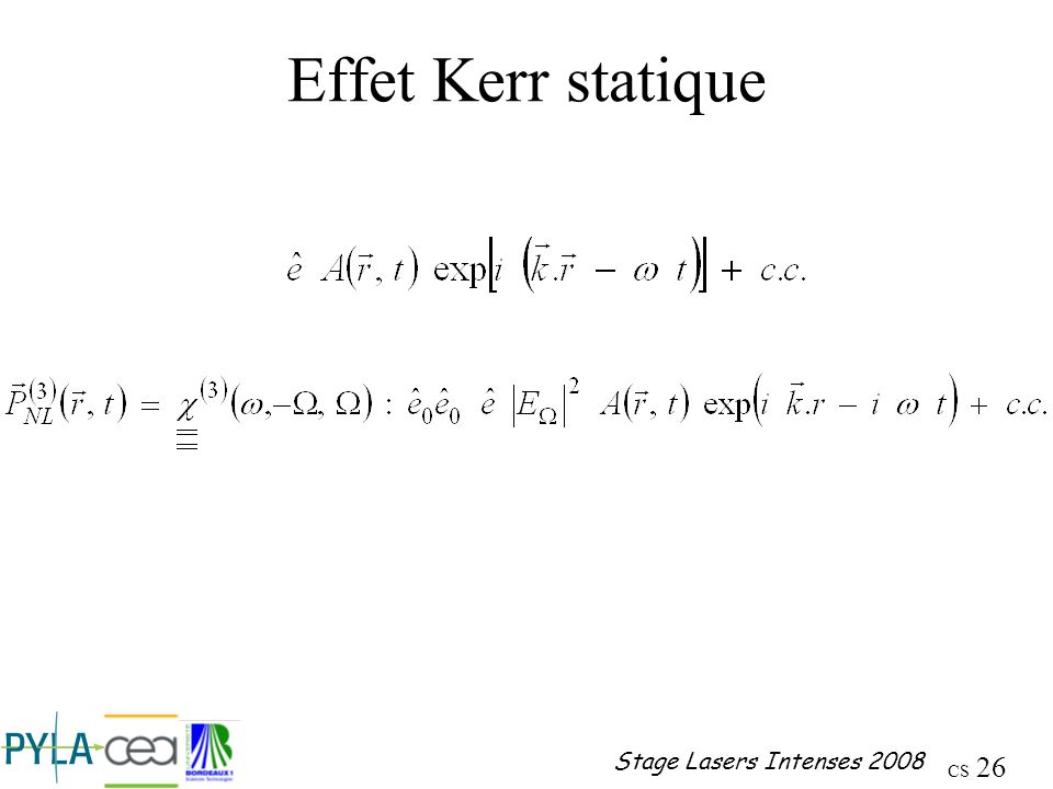 Effet Kerr statique