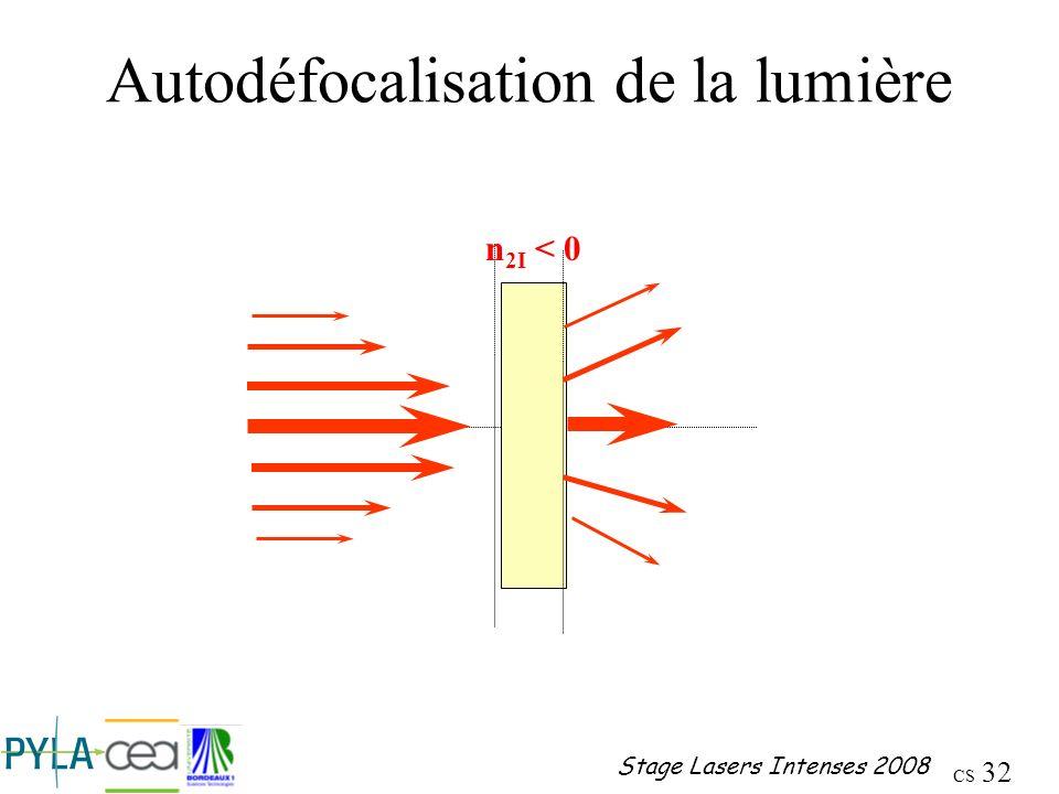 Autodéfocalisation de la lumière