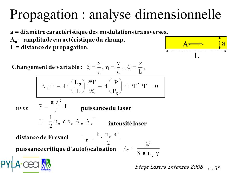 Propagation : analyse dimensionnelle