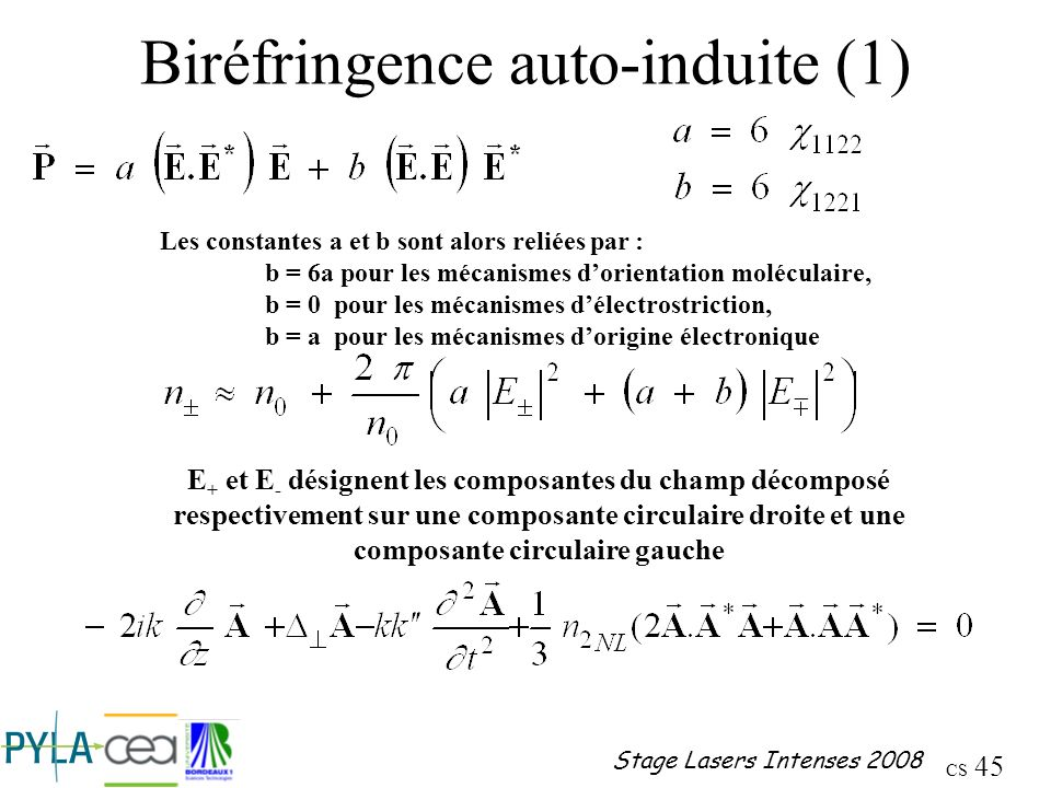 Biréfringence auto-induite (1)
